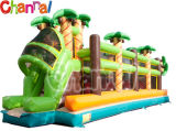 Inflatable Wipe out Game Mega Ball Jungle Run (chob344)