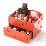 Hot Style European Style DIY Wooden Desktop Storage Box, Creative Cosmetic and Jewelry Storage Box
