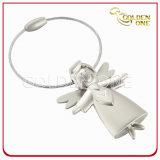 Customized 3D Pretty Angel Shape Metal Keyring