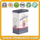Hot Sale Metal Food Packaging Rectangle Coffee Tin Box