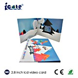 2.8 Inch Customized LCD Video Greeting Brochure/Christmas Gift