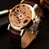 Z321 Skeleton Wrist Watch Women Watch Hollowed out Pointer Rose Gold Lady Watch