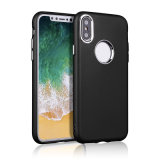 Metal Spraying Texture Soft TPU Bumper Back Case for iPhone 8/8plus