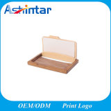 Wooden Business Name ID Credit Card Holder Case Wood Card Storage Box