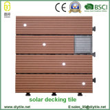 High Quality Building Material Waterproof WPC Solar Light Floor Tiles