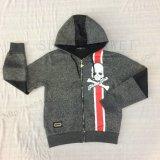 Boy Fleece Zip-up Sport Hoodies Coat in Kids Clothes Sq-6448