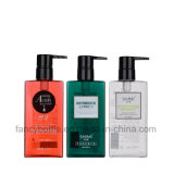 Square Transparent Shampoo Plastic Bottle in Different Colors (FS-BC-024)