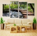 Eco Friendly Large Format Natural Scenery Picture Giclee River Canvas Prints