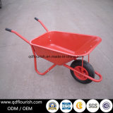 Zinc Plated Galvanized Wb6419 Wheelbarrow Rubber Wheel Barrow Cart