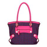 Yarn-Dyed Fabric Patchwork Fashion Lady Handbags (MBNO035069)