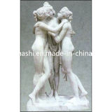 White Stone Marble Nude Female Sculpture/Statues for Outdoor Garden