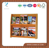 Wall Mount 2 Tiered 6 Pocket Wood Literature Holder