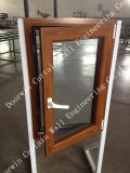 Top Quality UPVC Casement Window with Wood Color Finishing, Good Quality PVC Casement Window for Fabricated/Container House