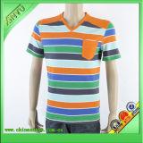 2016 Strips 100% Cotton Men T Shirt Manufacturer