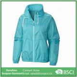 Lake Green Thin Woman Windproof Coat/ Jacket