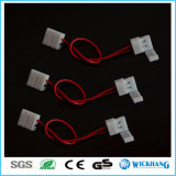 10mm 2 Pin Two Connector with Cable for SMD LED 5050 Single Color Strip Light