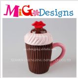 Customized Mug Great Gift Cupcake Design with Lid Customized Mug