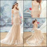Champagne Party Prom Dresses Lace Bridal Evening Gown Ld150