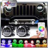 RGB LED Fog Lights for Jeep Wrangler Jk