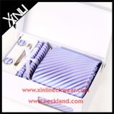 100% Silk Jacquard Woven Gift Tie and Pocket Square Set