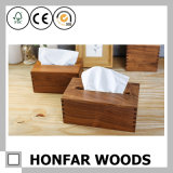 Vintage Walnut Wood Tissue Box for Hotel Home Restaurant