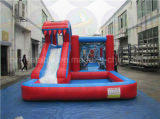 Kids Bouncer, Inflatable Water Slide with Swimming Pool