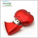 Hot Sale Heart Shape Red Color Flash Disk USB