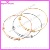 Stainless Steel 1.5mm Simple a Triple Loop Adjustable Wiring Bangle