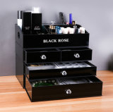 3PCS Removable Make up Drawer Box Organizer Stack Freely