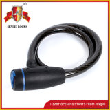 Jq8204 High Quality Durable Bicycle Lock Motorcycle Steel Cable Lock