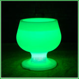 Light up Bar Furniture Flash Plastic LED Ice Bucket with Remote