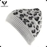 Unisex Winter Acrylic Jacquard Animal Leopard Pattern Beanie