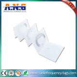 50*50mm Ntag213 Paper 13.56MHz RFID Tags Round Sticker with Adhesives