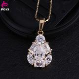 Shining Multi Stone Zircon Design Choker Necklace Gold Plated