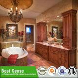 North America Style Modern Solid Wooden Bathroom Vanity