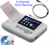 CE Professional 7 Inch Touch Screen 6 Channel Digital Electrocardiograph ECG Machine 12 Lead EKG-923s Including PC Software -Maggie