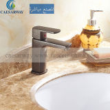 Engraved Satin Colored Single Handle Deck Mounted Basin Mixer Purified Water Taps