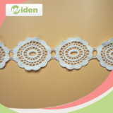 Fashion Circle Embroidery Customized Ivory Chemical Lace for Wedding