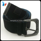 Polyester Fabric Belt Fashion Belt with Antique Silver Pin Buckle