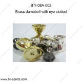Brass Material Slotted Beads for Fly Fishing - Brass Dumbbell with Eye Slotted 08A-002 51