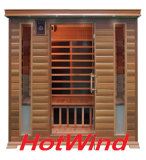 Red Cedar Far Infrared Sauna Room with Carbon Fiber Heaters; Dry Sauna for 4 Person