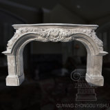 Low Price Caved Natural Marble Fireplace Cultured Marble Fireplace Designs