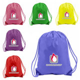 Custom Printed Polyester Waterproof Backpack Drawstring Bag