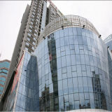 Low-E Frameless Double Glass Panel Curtain Wall