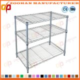 Adjustable 3 Tier Chrome Room Essentialst Wire Shelving Unit (Zhw135)