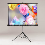 """84X84"""" Portable Floor Standing Tripod Projector Projection Screen for Sale"""
