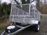 Hot Dipped Galvanized Box Trailer for Sale