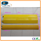 Yellow Reflective Rubber 2 Channels Outdoor Cable Protector