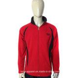 Men Winter Warm Zipper Design Polar Fleece Jacket