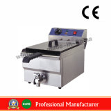 Stainless Steel Electric Deep Flat Chicken Fryer with Drain Taps Ce Certificate and RoHS Certificate (WF-101V)